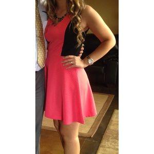 BeBop Dresses - Flattering color block dress fit and flare